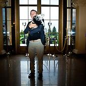 WARSAW, POLAND, NOVEMBER 2011:.Waclaw Gozlinski, owner of Venecia Palace Hotel. It was built in 2008 by Polish businessman Waclaw Gozlinski, who concluded that clients, often watching American class B movies and soap operas, are now seeking for fancy, often kitchy interiors for their parties and gatherings..As Poles are getting richer, this place is now the most popular wedding party spot in Poland, which now needs to be booked over a year in advance..(Photo by Piotr Malecki / Napo Images)..Warszawa, Listopad 2011:.Waclaw Gozlinski, wlasciciel hotelu Venecia Palace.Zbudowal go 2008 roku , gdy zauwazyl, ze Polacy coraz czesciej preferuja kiczowate wesela w ociekajacych sztukateria wnetrzach jak w Las Vegas lub telewizyjnych operach mydlanych. Hotel jest ogromnym sukcesem, czesto trzeba go rezerwowac z ponad rocznym wyprzedzeniem..Fot: Piotr Malecki / Napo Images