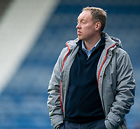 20th February 2021; The John Smiths Stadium, Huddersfield, Yorkshire, England; English Football League Championship Football, Huddersfield Town versus Swansea City; Steve Cooper of Swansea on the sideline as his team lose 4-1 to Huddersfield