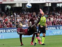 2nd October 2021; Arechi Stadium, Salerno, Italy; Serie A football, Salernitana versus Genoa : Mamadou Coulibaly of Salernitana with an overhead kick to clear