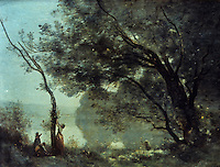 Corot: 1796-1875.  Souvenir de Mortefontaine, Salon de 1864.  Louvre.  Reference only.