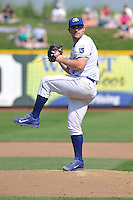 Liam Hendriks #32 of the Omaha Storm Chasers pitches against the Las Vegas51s at Werner Park on August 17, 2014 in Omaha, Nebraska. The Storm Chasers  won 4-0.   (Dennis Hubbard/Four Seam Images)