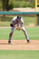 Colson Montgomery (12) of the ACL White Sox during a game against the ACL Dodgers on September 18, 2021 at Camelback Ranch in Phoenix, Arizona. (Tracy Proffitt/Four Seam Images)