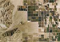 aerial photo map of desert farming, Riverside County, 2006