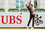 Yue Yin-Ho of Hong Kong tees off the first hole during the 58th UBS Hong Kong Open as part of the European Tour on 08 December 2016, at the Hong Kong Golf Club, Fanling, Hong Kong, China. Photo by Marcio Rodrigo Machado / Power Sport Images