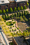 Aerial View of Jamison Square, Pearl District, Portland, Oregon