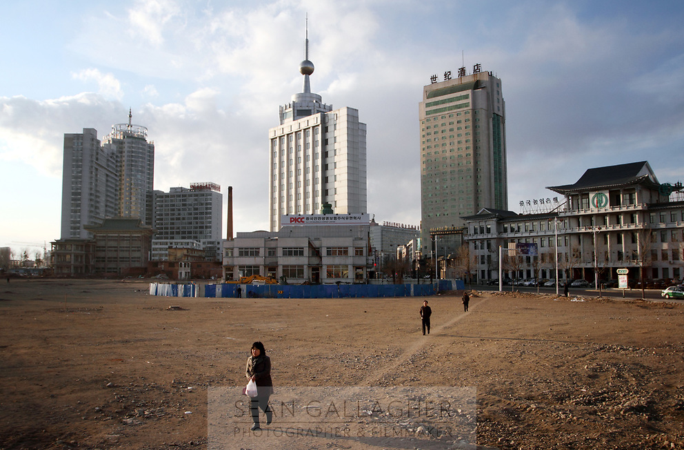 China. Jilin Province. Outskirts of the town of Yanji, close to the border with North Korea. The town is part of the Korean Autonomous Prefecture in the north-east of the country. 2011