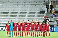 Orlando, FL - Wednesday March 07, 2018: USWNT stop for a moment of silence during the She Believes Final Cup Match featuring USA Women's National Team vs. Englands Women's National Team
