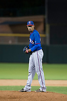 AZL Rangers relief pitcher Werner Leal (45) prepares to deliver a pitch to the plate against the AZL Giants on September 4, 2017 at Scottsdale Stadium in Scottsdale, Arizona. AZL Giants defeated the AZL Rangers 6-5 to advance to the Arizona League Championship Series. (Zachary Lucy/Four Seam Images)