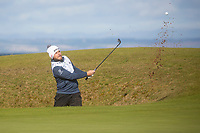 1st October 2021; Kingsbarns Golf Links, Fife, Scotland; European Tour, Alfred Dunhill Links Championship, Second round; Tyrrell Hatton of England from greenside bunker