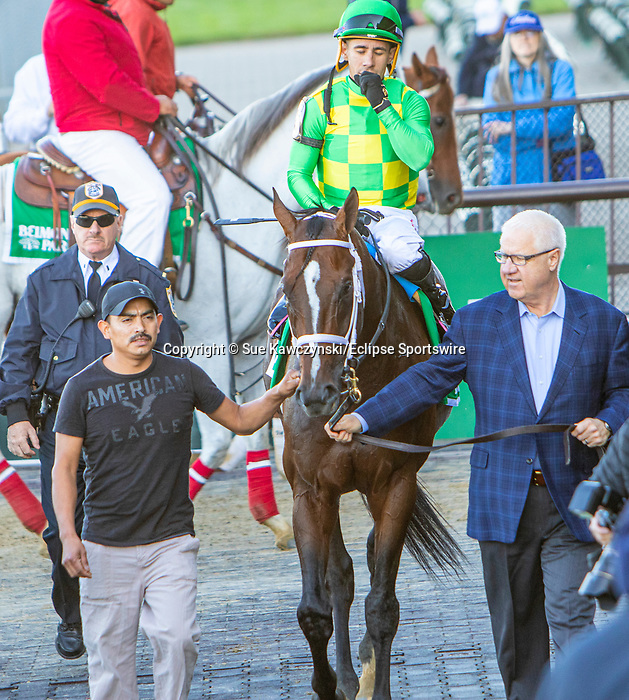 Oct 05, 2019 :  Arklow with Junior Alverado, wins the $500,000 Grade I Joe Hirsch Turf Classic Stakes, 1 1/2 mile on turf, at Belmont Park, in Elmont, NY, October 05, 2019. Sue Kawczynski_ESW_CSM,