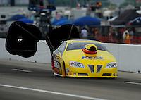 April 30, 2011; Baytown, TX, USA: NHRA pro stock driver Rodger Brogdon during the Spring Nationals at Royal Purple Raceway. Mandatory Credit: Mark J. Rebilas-