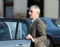 Pictured: Gerald Ward leaving Swansea Crown Court. Thursday 27 March 2014<br /> Re: The trial of a mine manager over the deaths of four miners at a Swansea Valley pit has started.<br /> Malcolm Fyfield, 58, was manager of the Gleision drift mine near Cilybebyll when it flooded in September 2011.<br /> David Powell, 50, Charles Breslin, 62, Phillip Hill, 44, and Garry Jenkins, 39, died in the incident.<br /> Mr Fyfield denies manslaughter while MNS Mining, the company which operated the site, denies corporate manslaughter.<br /> The prosecution opened its case at Swansea Crown Court on Thursday.<br /> The defence told the trial that it was agreed that Mr Fyfield suffered from post traumatic stress disorder and that would affect how he was able to deal with evidence. He will require breaks and may need to leave the court on occasions.