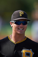 Pittsburgh Pirates Kevin Kramer (44) during a minor league Spring Training intrasquad game on April 3, 2016 at Pirate City in Bradenton, Florida.  (Mike Janes/Four Seam Images)