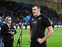 12th September 2021; Cbus Super Stadium, Robina, Queensland, Australia; Rugby International series, New Zealand versus Argentina:  Brodie Retallick in post match interview
