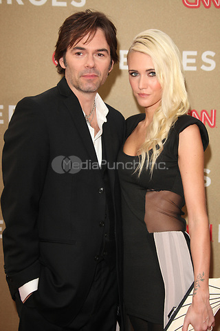 Billy Burke and Pollyanna Rose at the CNN Heroes: An All-Star Tribute at The Shrine Auditorium on December 11, 2011 in Los Angeles, California.