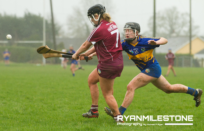 Irish Daily Star Camogie League Division One<br /> Tipperary v Galway<br /> Lorriane Ryan (Galway) Mairead Teehan (Tipperary)