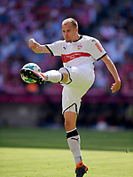 12.05.2018, Football 1. Bundesliga 2017/2018, 34.  match day, FC Bayern Muenchen - VfB Stuttgart, in Allianz-Arena Muenchen. Holger Badstuber (Stuttgart). *** Local Caption *** © pixathlon<br /> <br /> +++ NED + SUI out !!! +++<br /> Contact: +49-40-22 63 02 60 , info@pixathlon.de