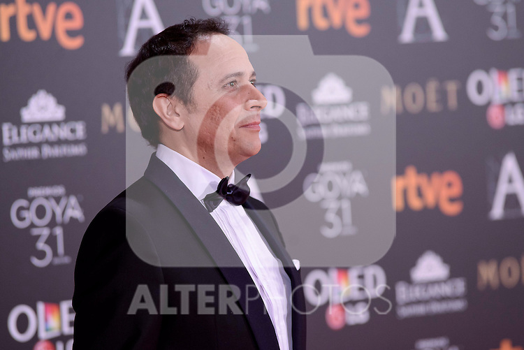 Luis Callejo attends to the Red Carpet of the Goya Awards 2017 at Madrid Marriott Auditorium Hotel in Madrid, Spain. February 04, 2017. (ALTERPHOTOS/BorjaB.Hojas)
