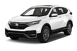2021 Honda CR-V-Hybrid EX 5 Door SUV Angular Front automotive stock photos of front three quarter view