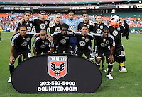 DC United starting XI.  DC United tied Real Salt Lake 0-0 at  RFK Stadium, Saturday May 23, 2009.