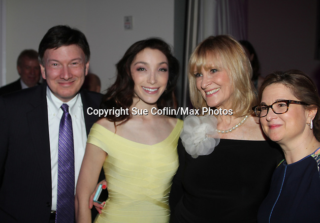 Meryl Davis, JoJo Starbuck with founder & CEO Sharon Cohen - Figure Skating in Harlem celebrates 20 years - Champions in Life benefit Gala on May 2, 2017.  (Photo by Sue Coflin/Max Photos)