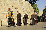 Easter, the Franciscan Holy Thursday procession in Jerusalem Old City