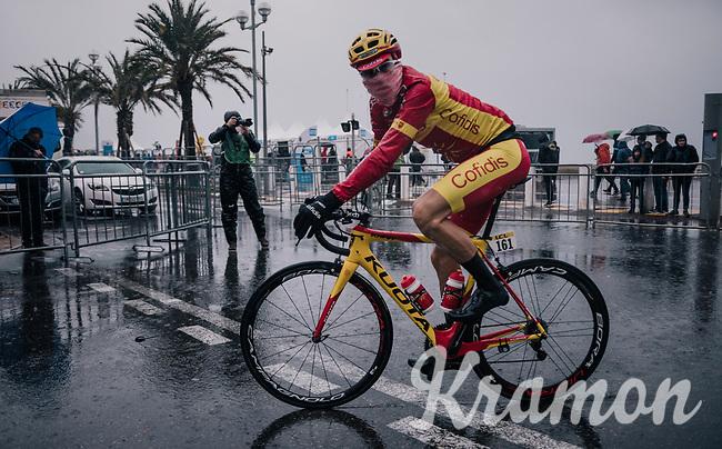 Spanish Champion Jesús Herrada (ESP/Cofidis) off to the start<br /> <br /> 76th Paris-Nice 2018<br /> Stage 8: Nice > Nice (110km)
