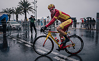 Spanish Champion Jesús Herrada (ESP/Cofidis) off to the start<br /> <br /> 76th Paris-Nice 2018<br /> Stage 8: Nice > Nice (110km)