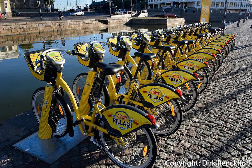 Leihfahrräder in Helsinki, Finnland