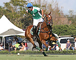 WELLINGTON, FL - FEBRUARY 19: 10 goaler, Sapo Caset of Tonkawa, takes a shot on goal in the final of the William Ylvisaker Cup as Coca Cola 9 defeats Tonkawa 8 in overtime with a Golden Goal on a Penalty 2 by Julio Arellano,at the International Polo Club, Palm Beach on February 19, 2017 in Wellington, Florida. (Photo by Liz Lamont/Eclipse Sportswire/Getty Images)