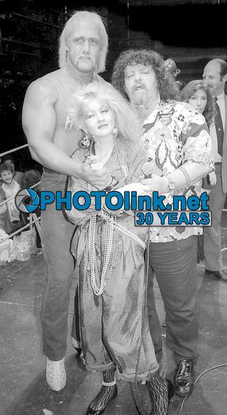Hulk Hogan #LouAlbano #CyndiLauper Undated<br /> Photo By Adam Scull/PHOTOlink.net