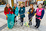 Presentation NS Tralee students, April Rose O'Kennedy, Siobhan O'Mahony, Sarah Brick, Saoirse Kavanagh and Layla Moylan members of the Planet Power join with Tidy Tralee Together collecting rubbish in the Square on Wednesday morning.