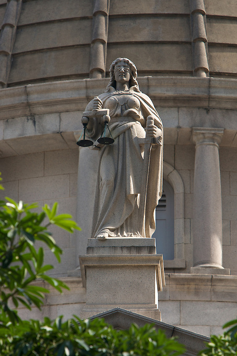 Lady Justice on the former Supreme Court in Central.