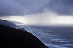 Winter rain storm on the Oregon Coast; from Cape Perpetua lookout south to Heceta Head..#8372-0616
