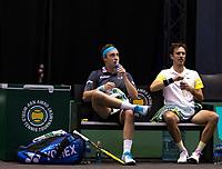 Rotterdam, The Netherlands, 3 march  2021, ABNAMRO World Tennis Tournament, Ahoy, First round doubles: Jean Sebastian Cabal (COL) / Robert Farah (COL) vs. Henri Kontinen (FIN) / Edouard Roger Vasslin (FRA).<br /> Photo: www.tennisimages.com/
