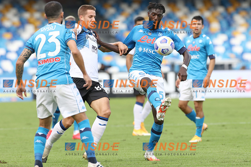 Josip Ilicic of Atalanta BC and Tiemoue Bakayoko of SSC Napoli compete for the ball<br /> during the Serie A football match between SSC Napoli and Atalanta BC at stadio San Paolo in Napoli (Italy), October 17th, 2020. <br /> Photo Cesare Purini / Insidefoto