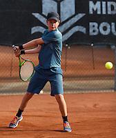 Netherlands, Rotterdam August 05, 2015, Tennis,  National Junior Championships, NJK, TV Victoria, Daan van Dijk<br /> Photo: Tennisimages/Henk Koster