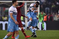 Danilo Cataldi of Lazio celebrates with Lucas Leiva after scoring the goal of 3-0   <br /> Roma 2-3-2019 Stadio Olimpico Football Serie A 2018/2019 SS Lazio - AS Roma <br /> Foto Andrea Staccioli / Insidefoto