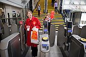 Labour MP Glenda Jackson at Kilburn tube station on her way back to her local campaign office during the 2010 General Election campaign in the newly created marginal constituency of Hampstead and Kilburn.