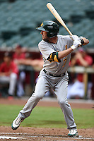 Oakland Athletics shortstop Branden Cogswell (7) during an Instructional League game against the Arizona Diamondbacks on October 10, 2014 at Chase Field in Phoenix, Arizona.  (Mike Janes/Four Seam Images)