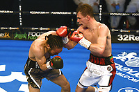 Henry Turner (white shorts) defeats Clayton Bricknell during a Boxing Show at York Hall on 24th April 2021
