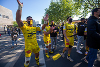 2nd May 2021; Stade Marcel-Deflandre, La Rochelle, France. European Champions Cup Rugby La Rochelle versus Leinster Semi-Final; Victor VITO Stade Rochelais outside the stadium celebrating with the fans