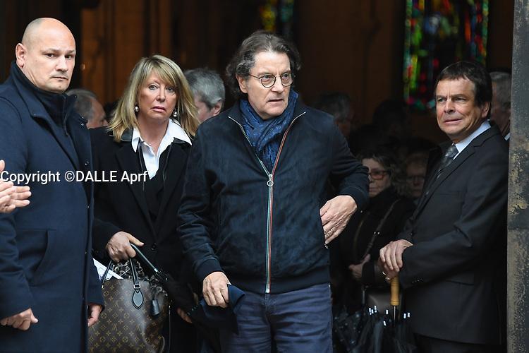 Francis Cabrel - Les obseques du  chanteur nicois Dick Rivers a l'eglise Saint-Pierre de Montmartre a Paris.<br /> © URMAN/DALLE