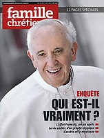 Famille Chrétienne France Magazine Pope Francis.23 Marzo 2014 <br /> Photograph by Stefano Spaziani.