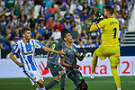 Leganes' Gerard Gumbau (l) and Ivan Cuellar (r) and Real Sociedad's Ruen Pardo during La Liga match. August 24, 2018. (ALTERPHOTOS/A. Perez Meca)