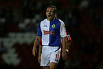 Blackburn Rovers 3, Huddersfield Town 1, 22/09/2005. Ewood Park, Carling Cup. Rovers' Craig Bellamy scoring his first goal for his new club, which opened the scoring. Bellamy scored twice in the match. Photo by Colin McPherson.