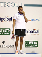 Swimming 55° Settecolli trophy Foro Italico, Rome on June 30, 2018.<br /> Swimmer Gregorio Paltrinieri, of Italy, shows the gold medal after winning the men's 800 meters Freestyle at the Settecolli swimming trophy in Rome, on 30 June, 2018.<br /> UPDATE IMAGES PRESS/Isabella Bonotto