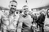 freshly retired Simon Gerrans (AUS/BMC) visiting the Lotto 6daagse Vlaanderen-Gent 2018 / Gent6<br /> day 5
