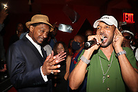 NEW YORK, NY- SEPTEMBER 12: Super Cat, Swizz Beatz and Baby Cham pictured at Swizz Beatz Surprise Birthday Party at Little Sister in New York City on September 12, 2021. Credit: Walik Goshorn/MediaPunch
