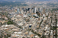 Downtown Denver aerial.  Aug 2013